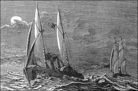 The Virginius chased by the Tornado