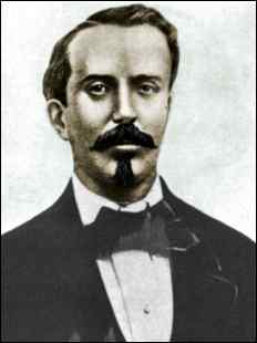 Colorized portrait of Carlos Manuel de Cespedes