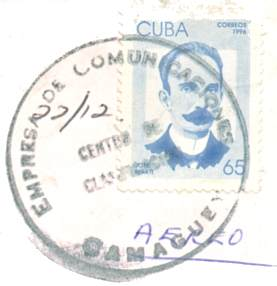 Marti on a stamp