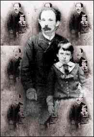 Marti and son in New York, 1885